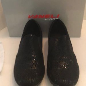 Leather shoes rubber sole size 9 slip on